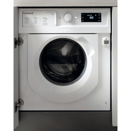 Hotpoint BIWMHG71483UKN Built-In Integrated Washing Machine White