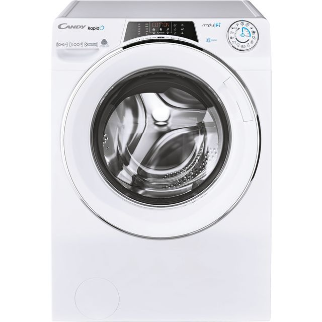 Candy Rapido ROW41066DWMCE Wifi Connected 10Kg / 6Kg Washer Dryer with 1400 rpm - White - D Rated